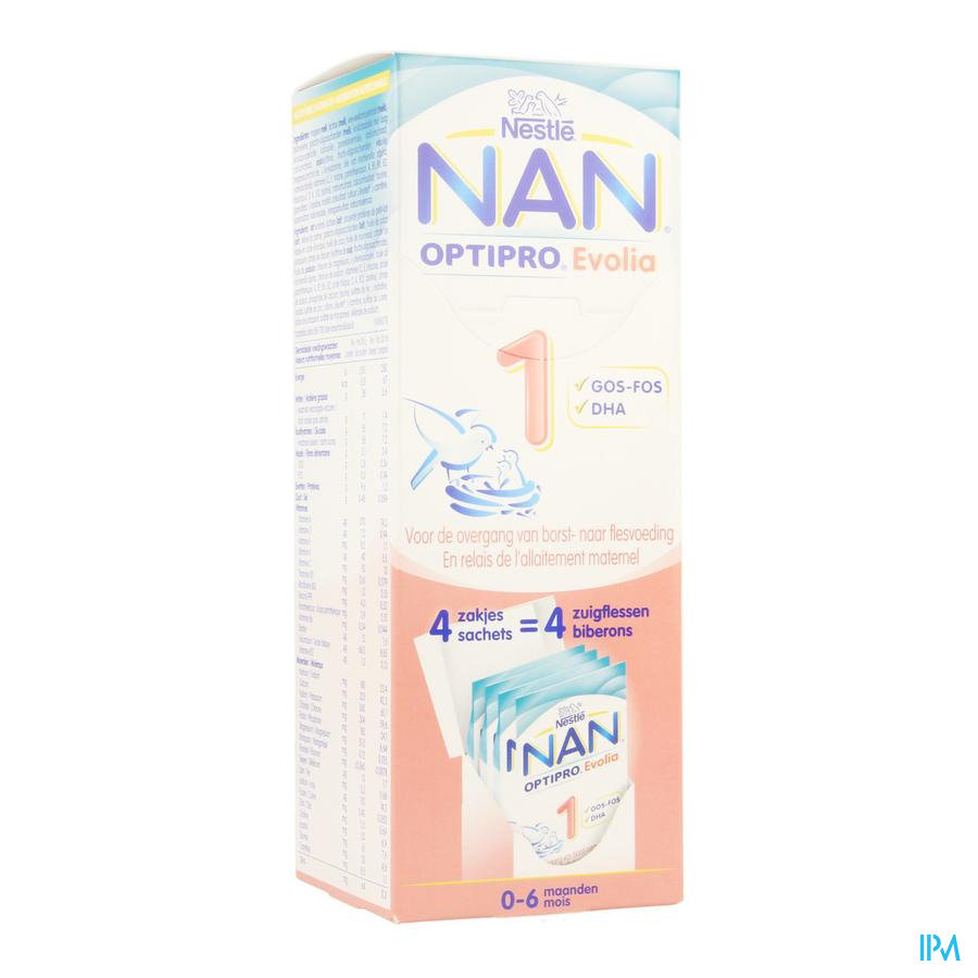 Nan Optipro Evolia 1 Melkpoeder 4x26g