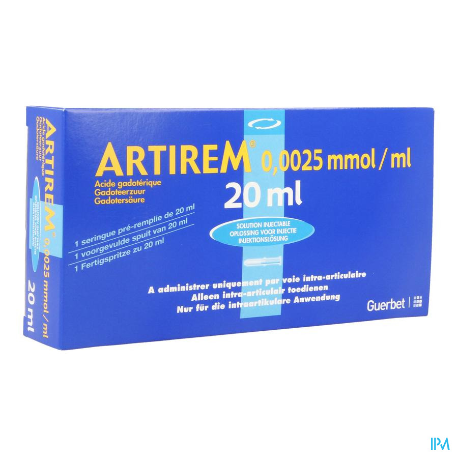 Artirem 1 Voorgev.spuit Ser Prerempl 0,0025mmol/ml