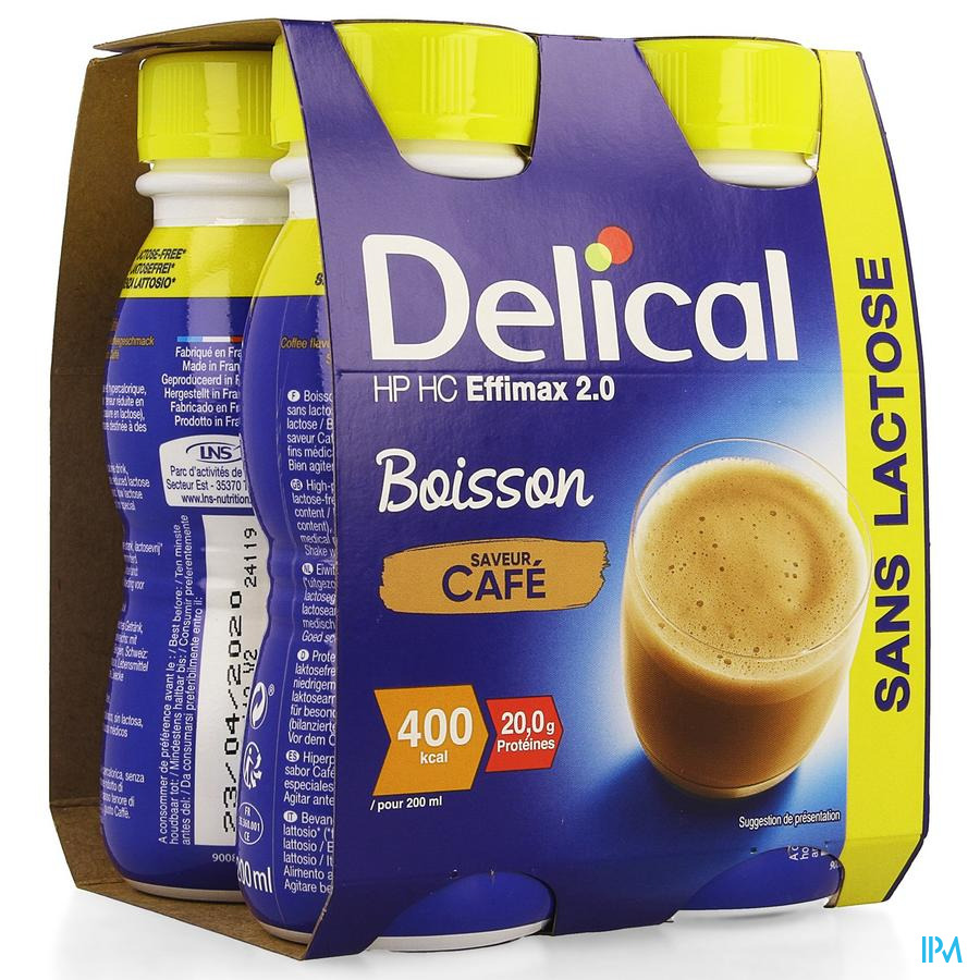 Delical Effimax 2.0 Cafe 4x200ml