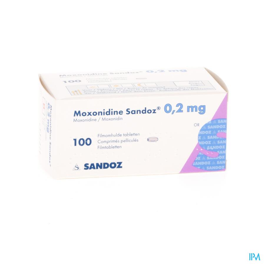 Moxonidine Sandoz Comp 100 X 0,2mg