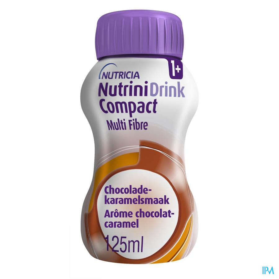 Nutrinidrink Compact Multi Fibre Chocolat 4x125ml