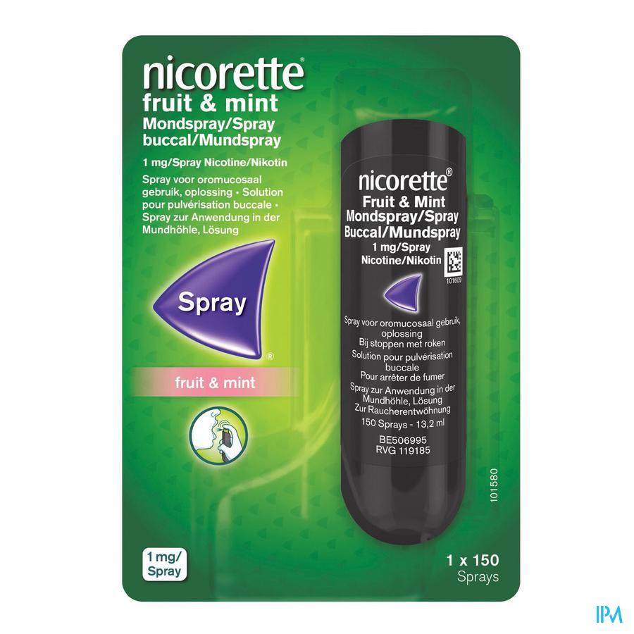 Nicorette® Fruit & Mint mondspray 1mg/spray (150 sprays)