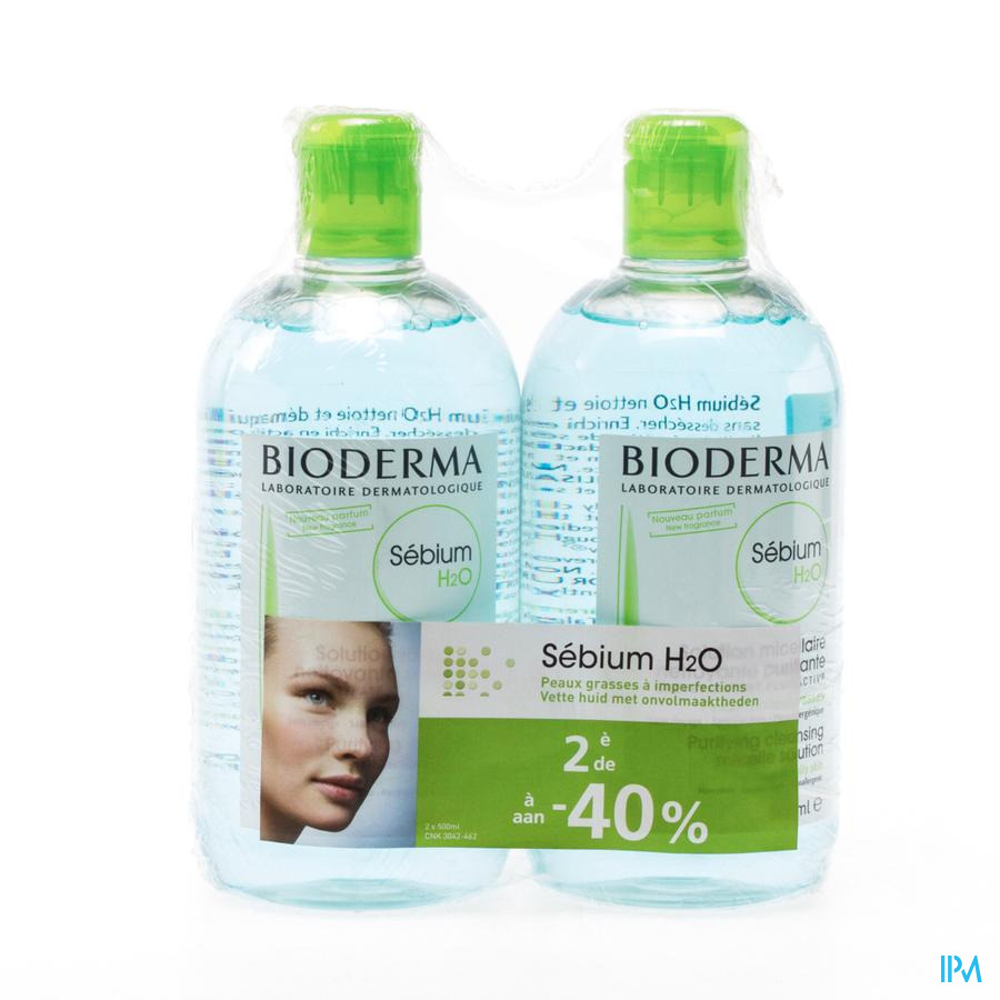 BIODERMA SEBIUM H2O DUO 2X500ML (2DE 40%)