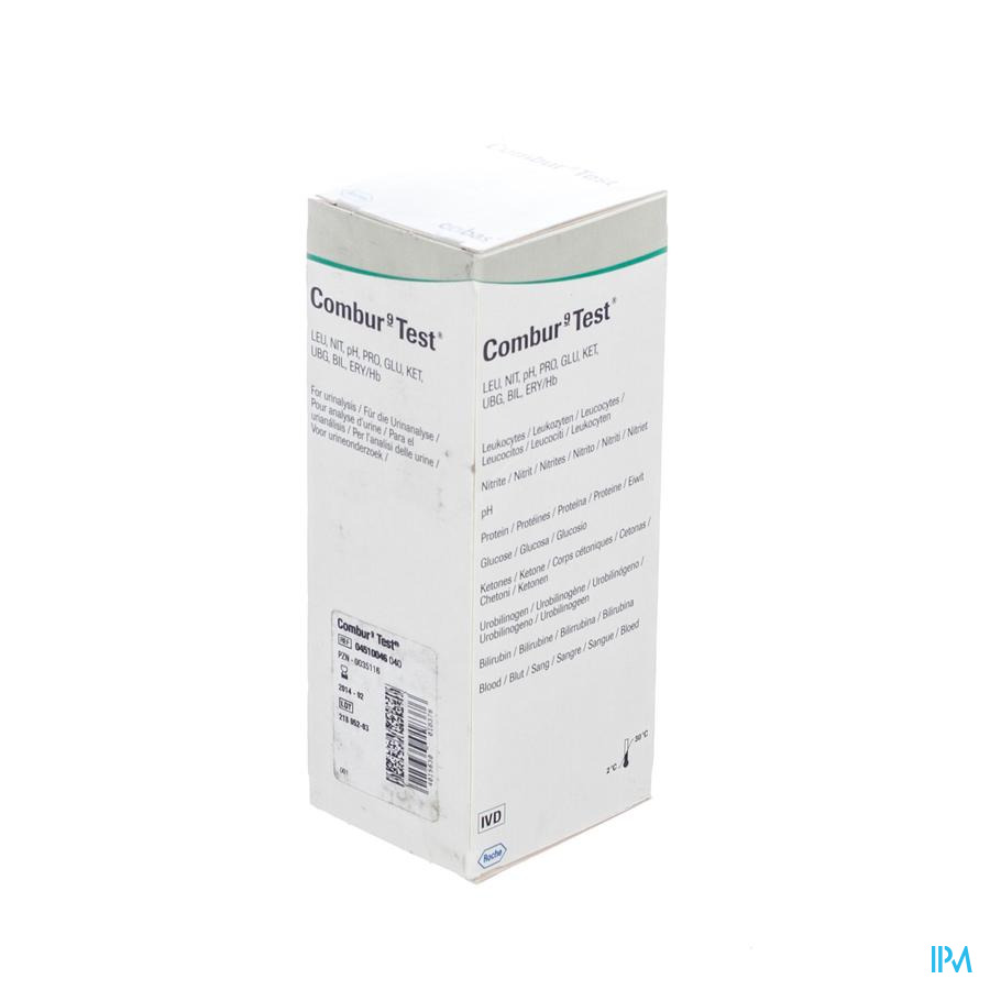 Combur 9 Test Strips 100 04510046040