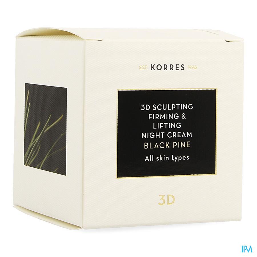 Korres Kf Pin Noir 3d Creme Nuit 40ml
