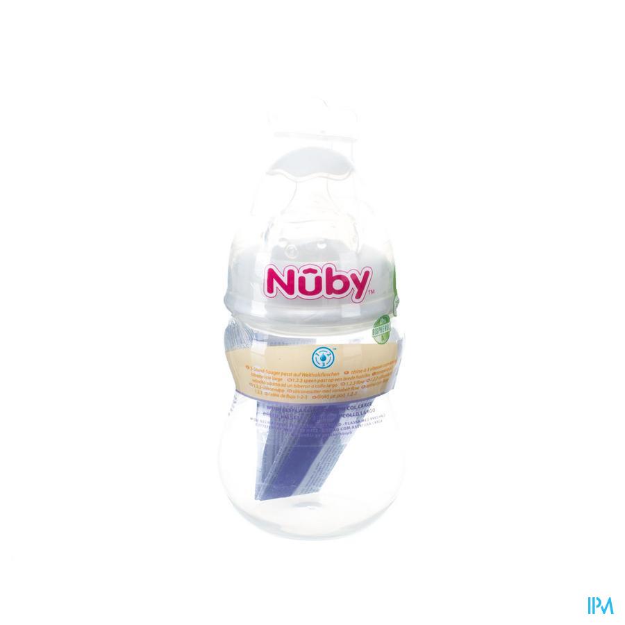 Nuby Zuigfles Pp 250ml Speen 3v 0-12m