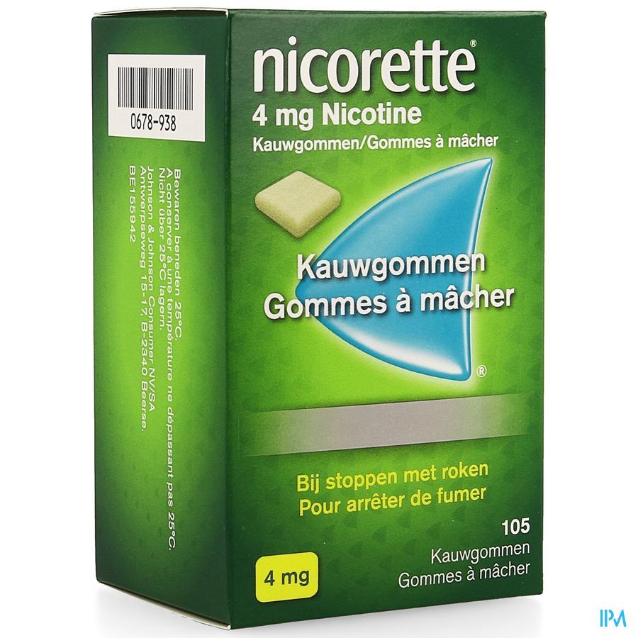 Nicorette Kauwgom 105x4 mg