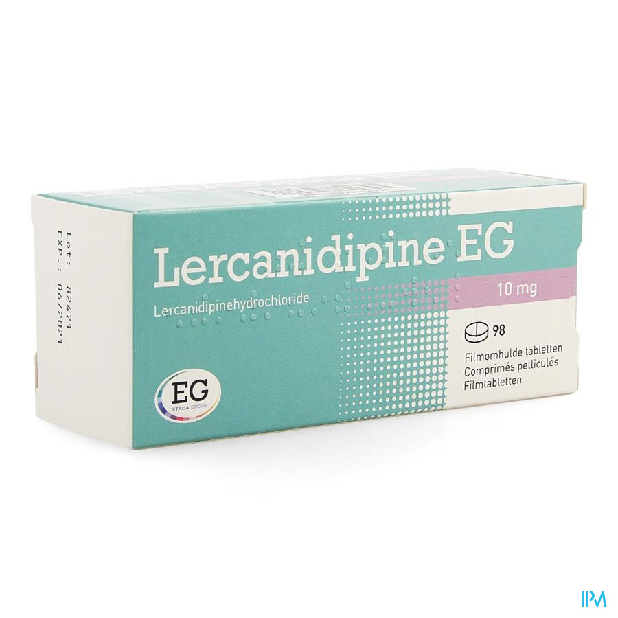 Lercanidipine EG 10 mg Comprimés Pelliculés 98 X 10 mg