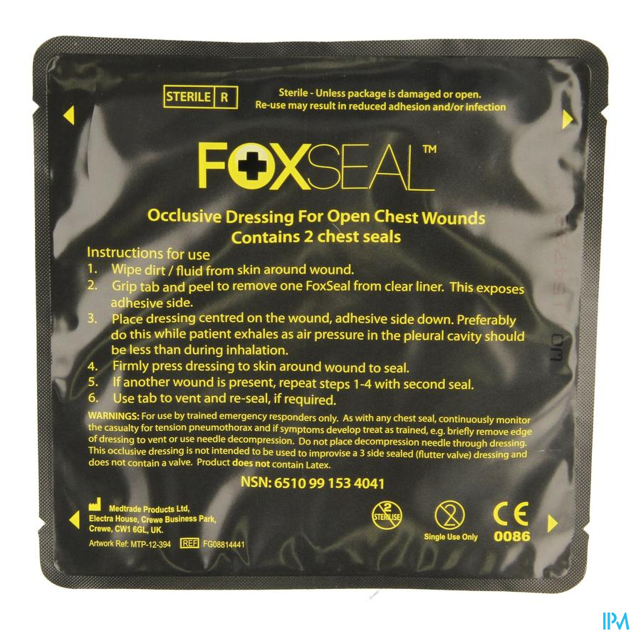 Chest Seal Foxseal 2 Covarmed