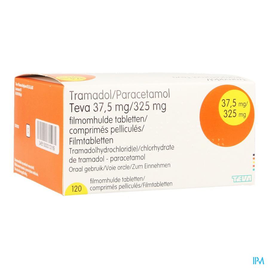 Tramadol Paracetamol 37,5mg/325mg Teva Comp Pel120