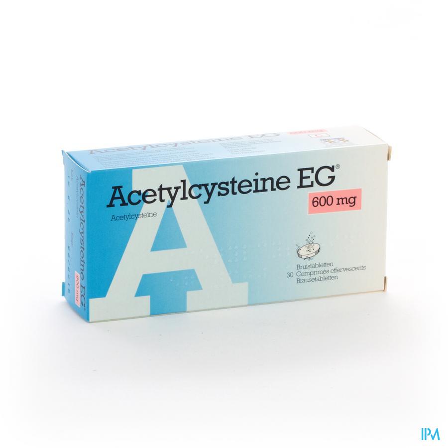 ACETYLCYSTEINE EG COMP EFF 30X600MG
