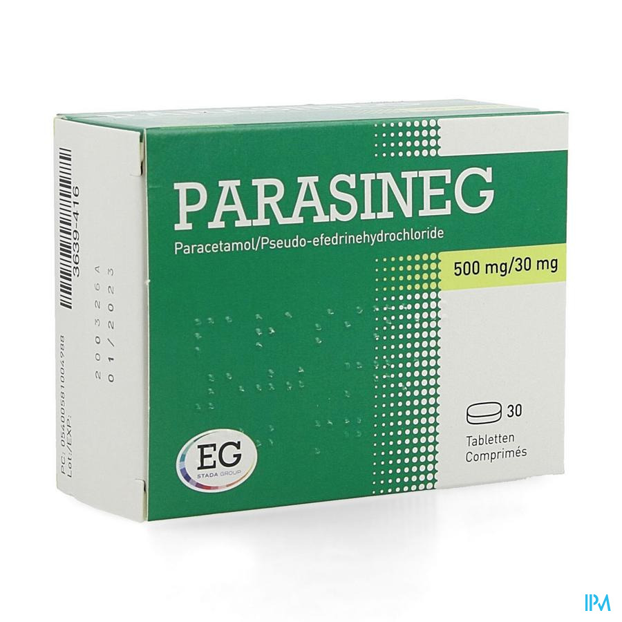 Parasineg 500mg/30mg Comp 30