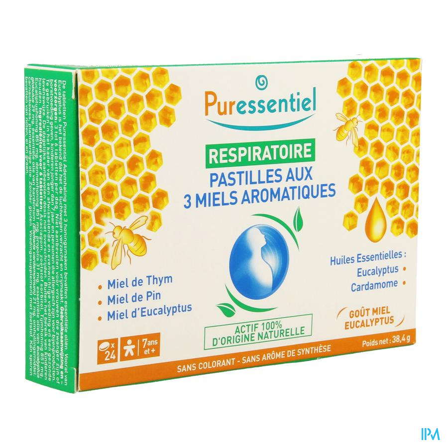 Puressentiel Respiratoire Pastilles 3 Miels 24
