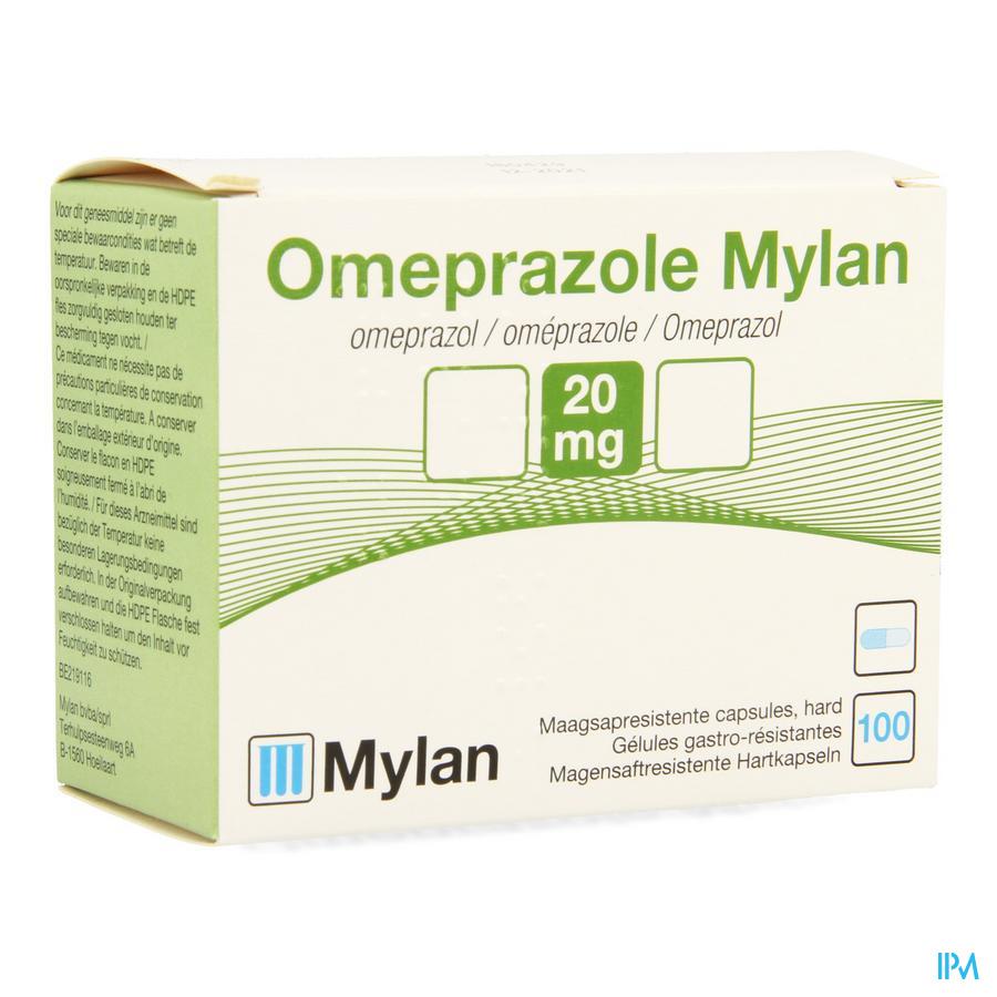 Omeprazole Mylan Caps 100 X 20mg