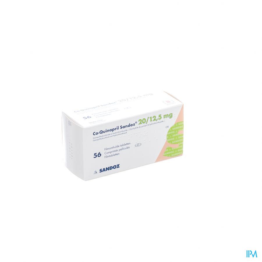 Co Quinapril Sandoz 20/12,5 mg Tabletten Pell 56