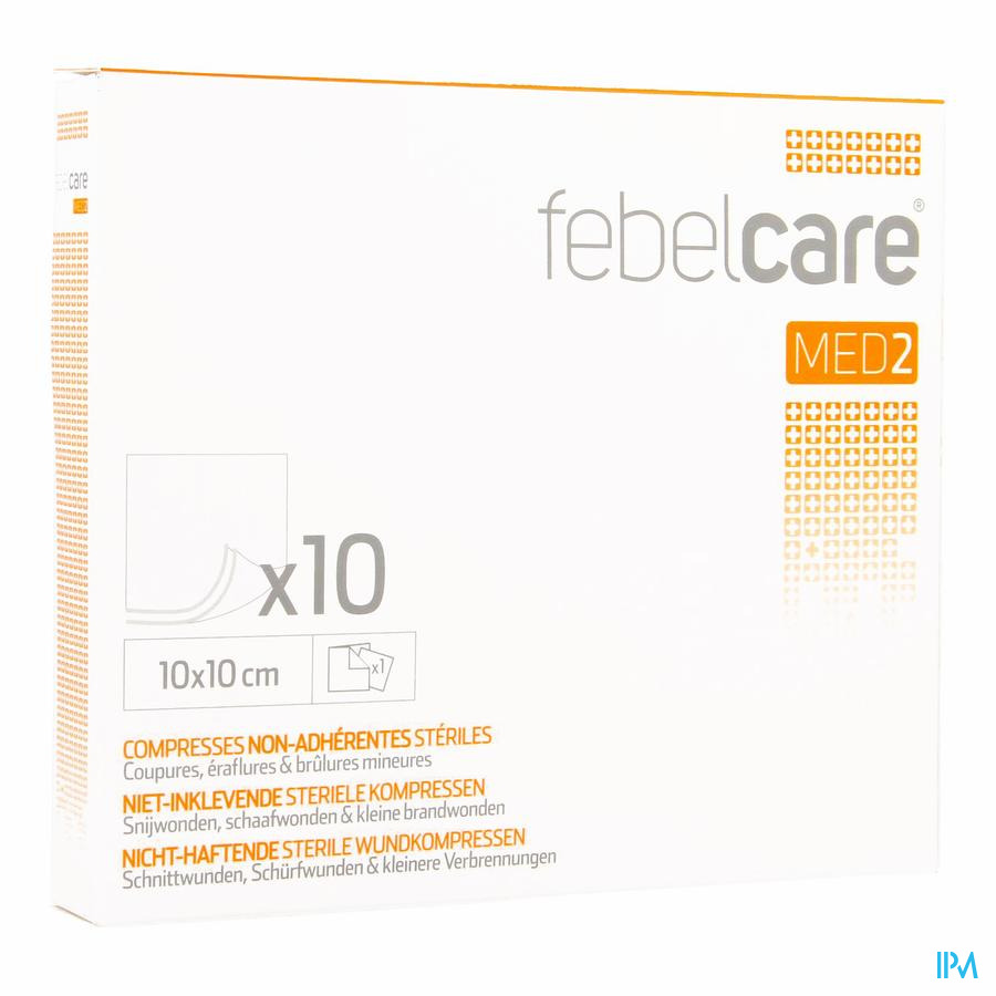 Febelcare Med2 Compr.n/adh. Ster. 10,0x10,0cm 10x1