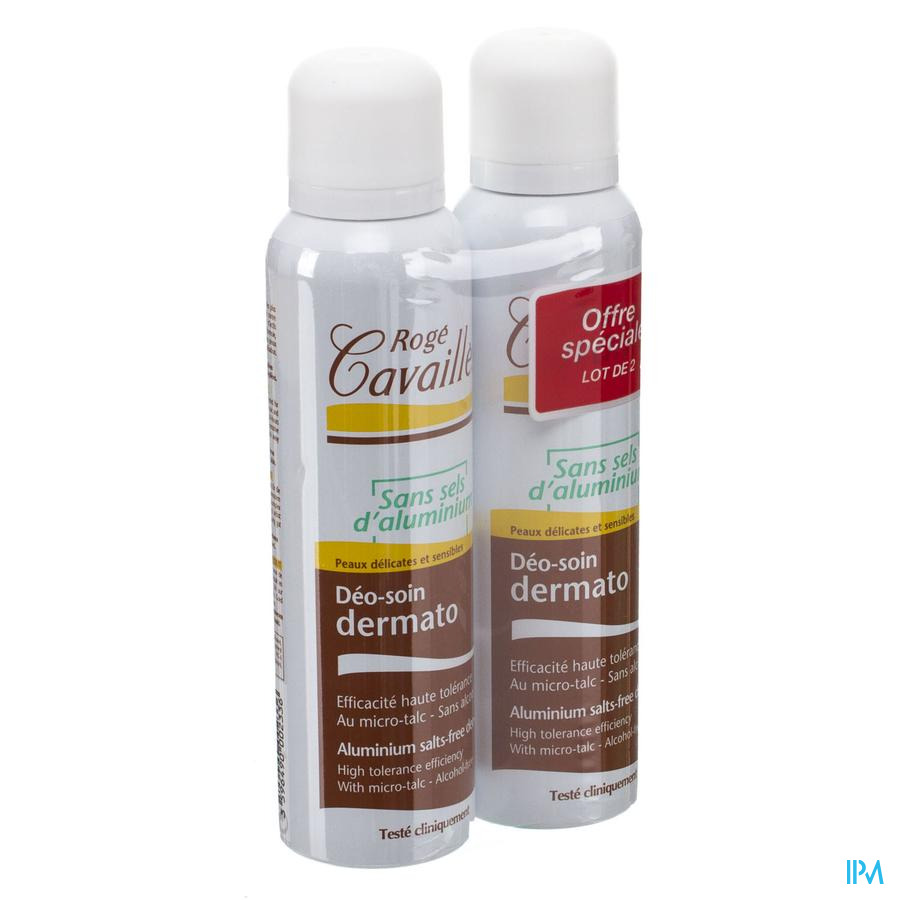 Roge Cavailles Deodorant Dermato Spray 2x150ml