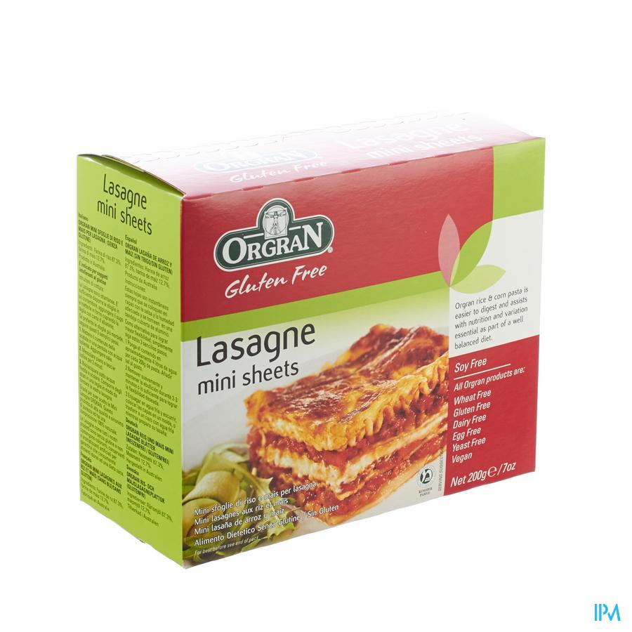 Orgran Ris-o-mais Lasagne 200g 4121