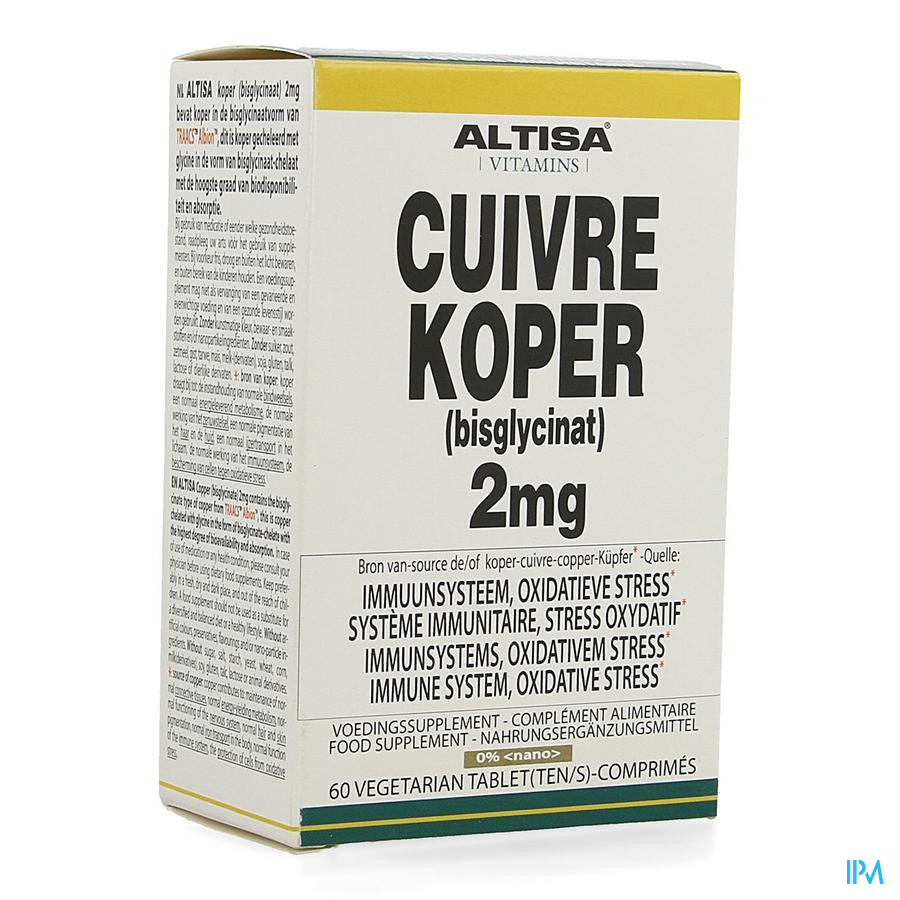 Altisa Cuivre Bisglycinate 2mg Comp 60
