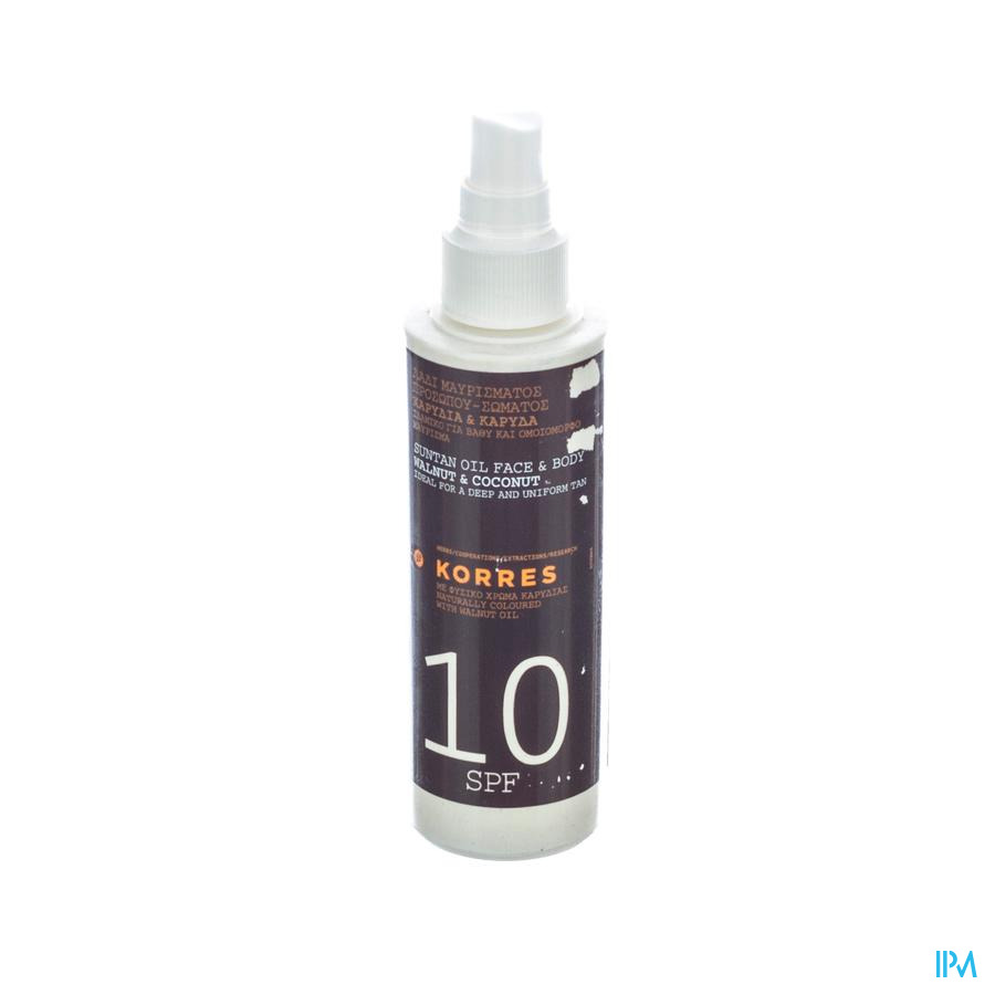Korres Ks Suntan Oil Ip10 150ml