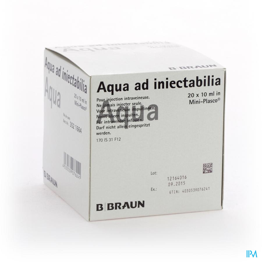 Mini Plasco Aqua Pro Inj Amp20x10ml