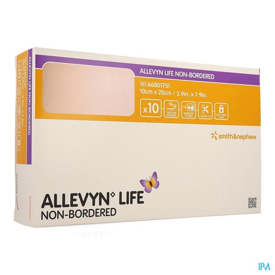 Allevyn Life Non Bordered 10x20cm 10 66801751