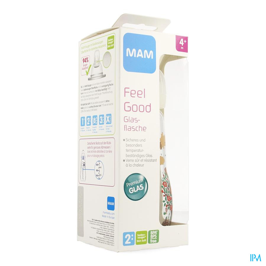 Mam Zuigfles Glas Feel Good 260ml Unisex