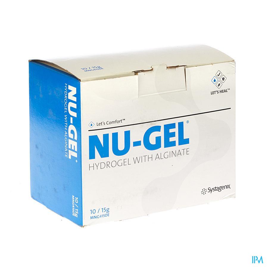 Nu-gel Hydrogel+algin. 10x15g Mng415de kopen doe je voordelig hier