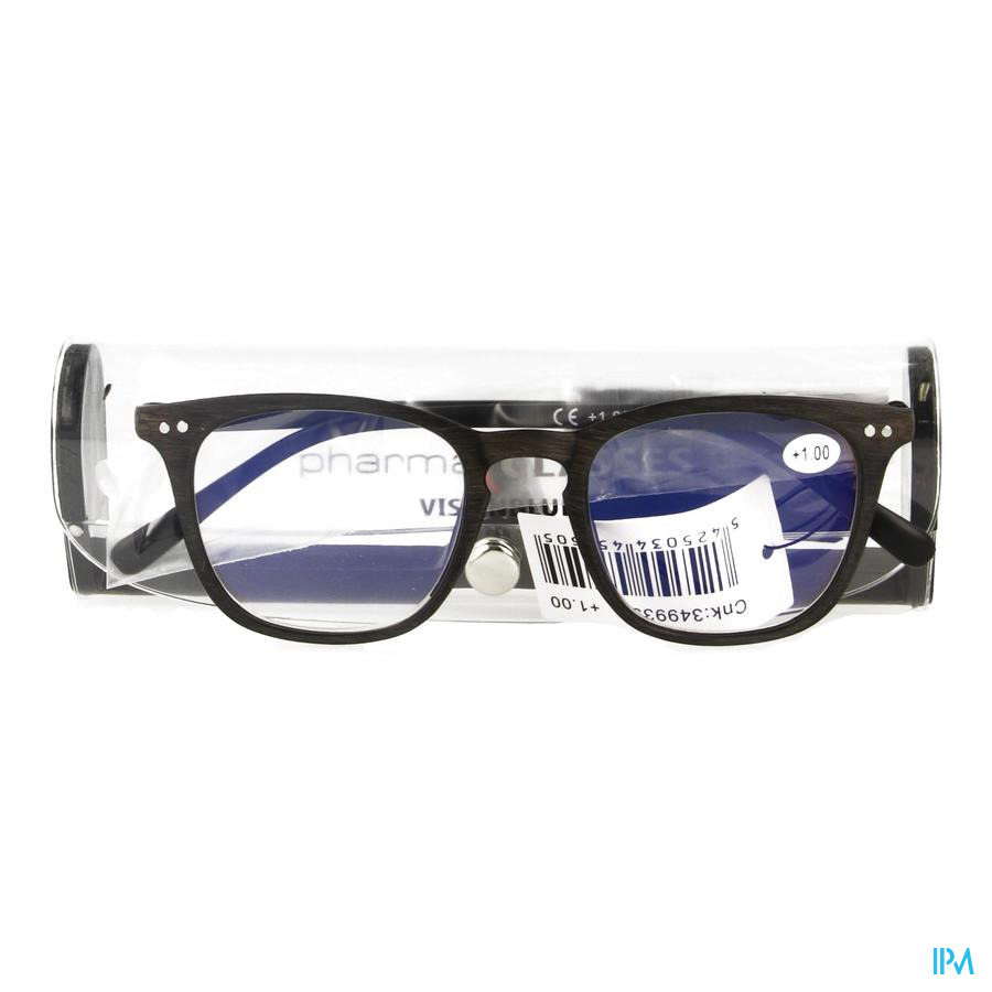 Pharmaglasses Visionblue Pc02 Leesbril +1.00 Brown