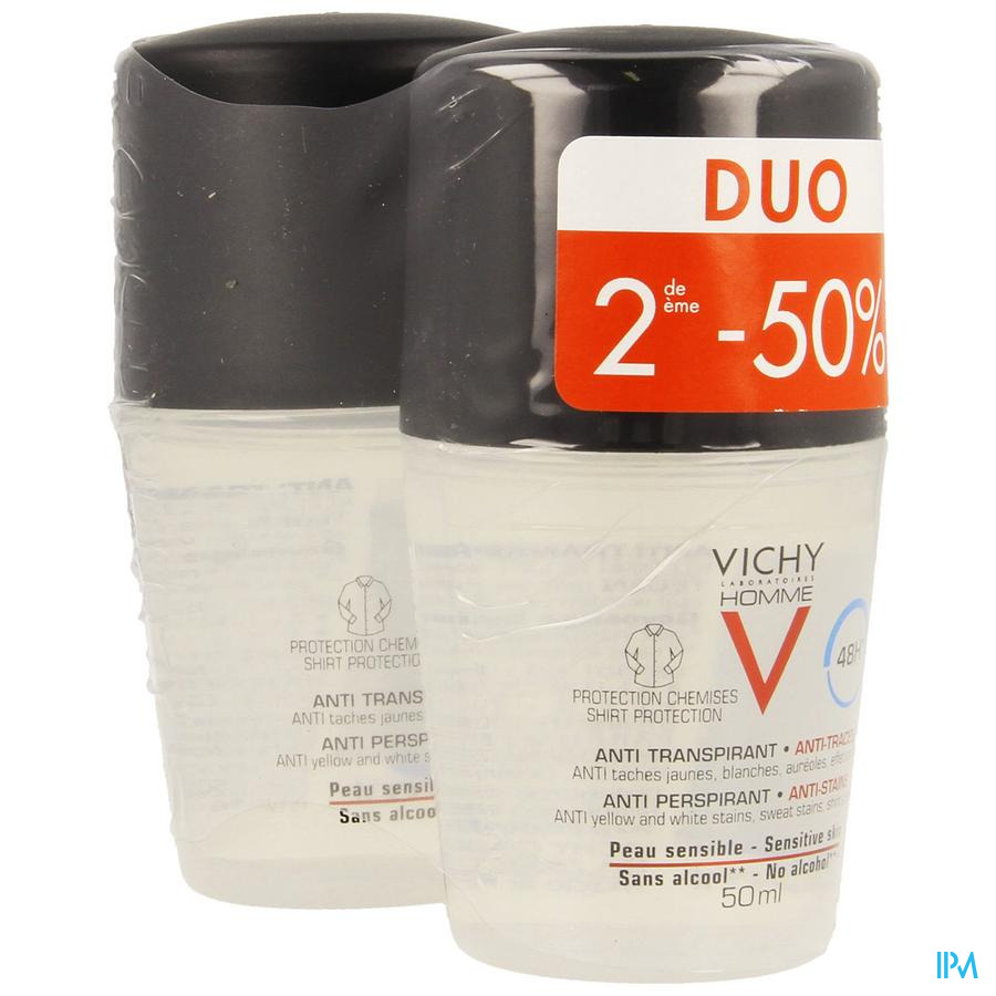 Vichy Homme Deo Mineral Duo 2x50 ml