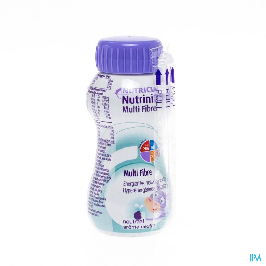 Nutrinidrink Multi Fibre Neutraal Flacon 200 ml