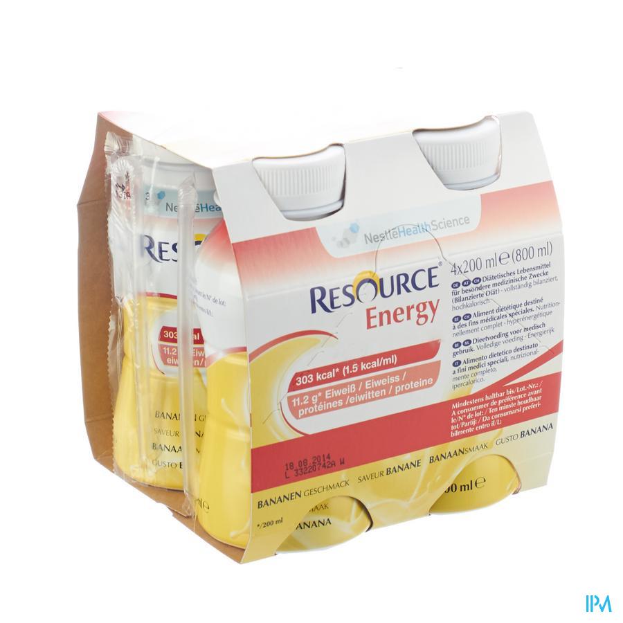 Resource Energy Drink Banaan 4x200 ml