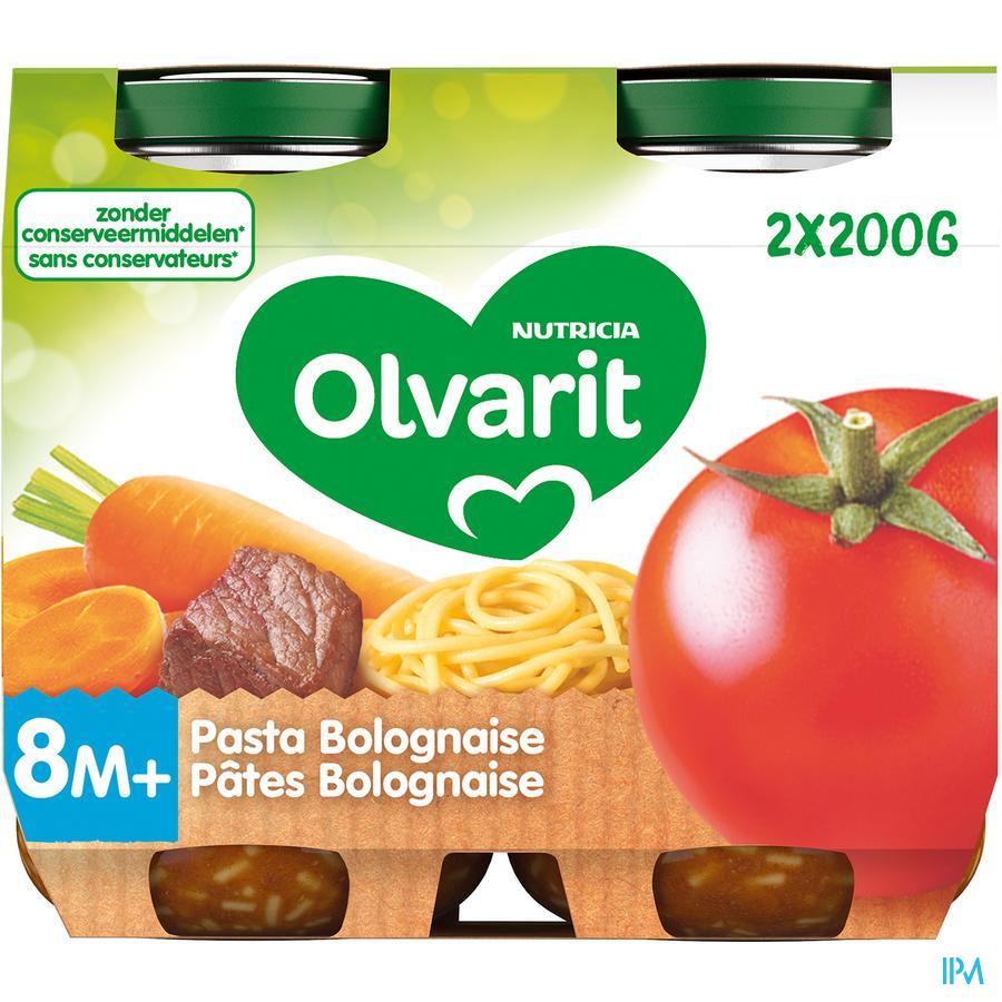 Olvarit Pasta Bolognaise 2x200g 8m06