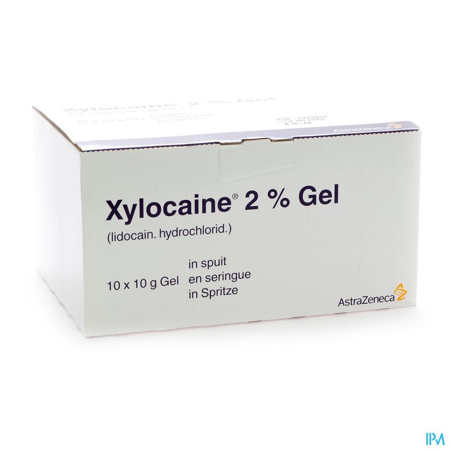 Xylocaine Gel Ser/spuit 10x10 gr 2%
