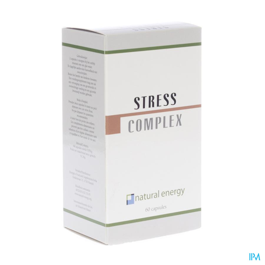 STRESS COMPLEX NATURAL ENERGY CAPS  60