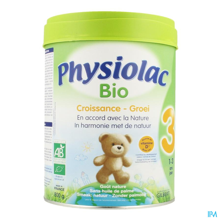 Physiolac Bio 3 Poedermelk 800g