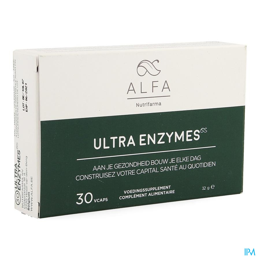 Alfa Ultra Enzymes Vcaps 30