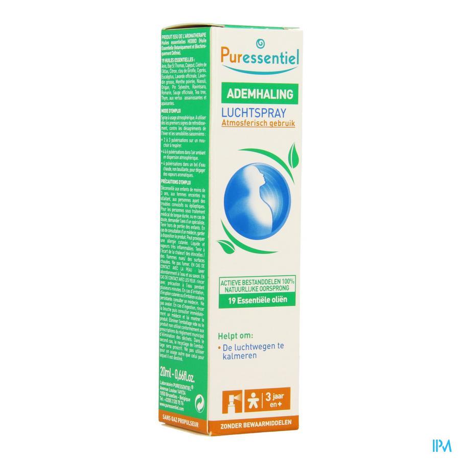 Puressentiel Respiratoire Spray Aerien 20 ml  -  Puressentiel