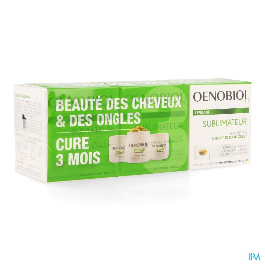 Oenobiol Capillaire Cure Sublimateur Softcaps 3x60