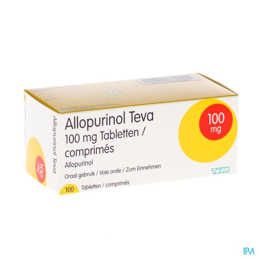 Allopurinol Teva 100mg Tabl 100