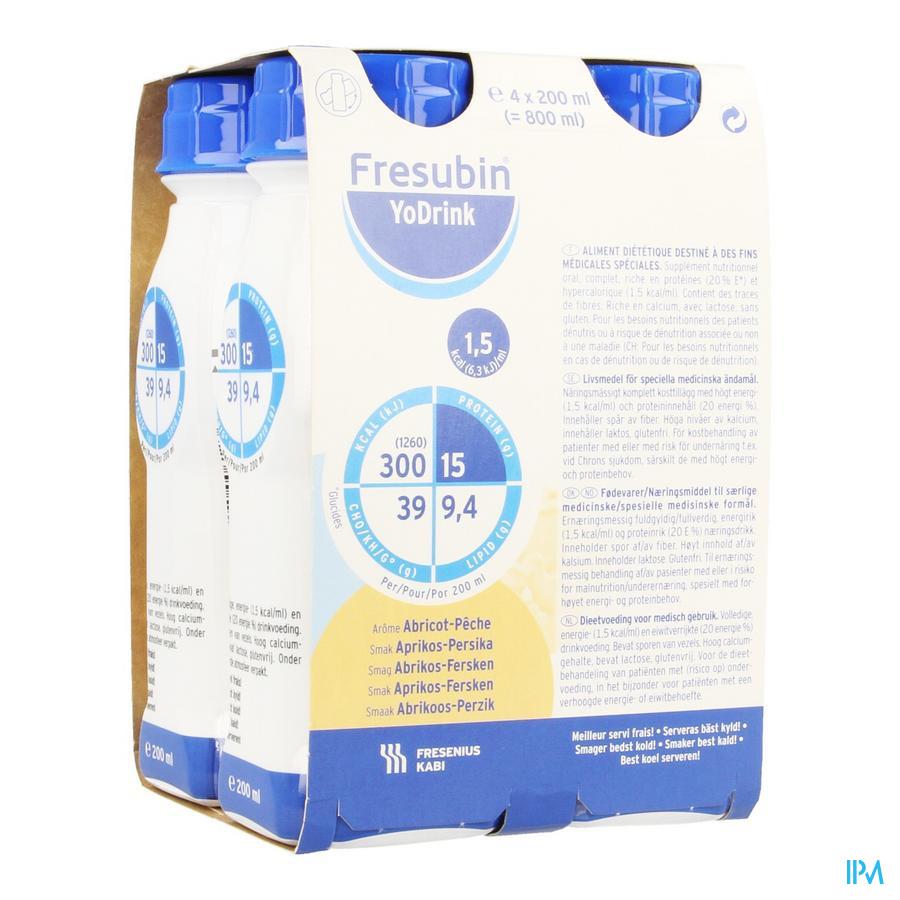Fresubin Yodrink 200ml Pêcheabricot/abrikoosperzik
