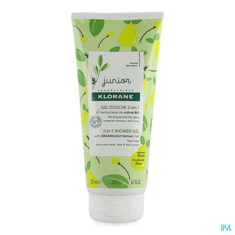 Klorane Petit Junior Douche Gel Peer 200ml Nf