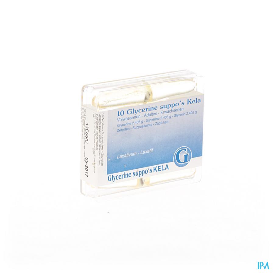 Glycerine Kela Pharma Suppo Ad 10