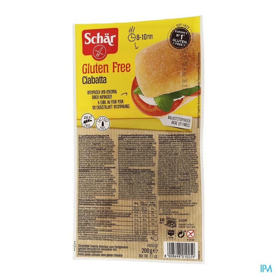 Schar Ciabatta Glutenvrij 200g 6593