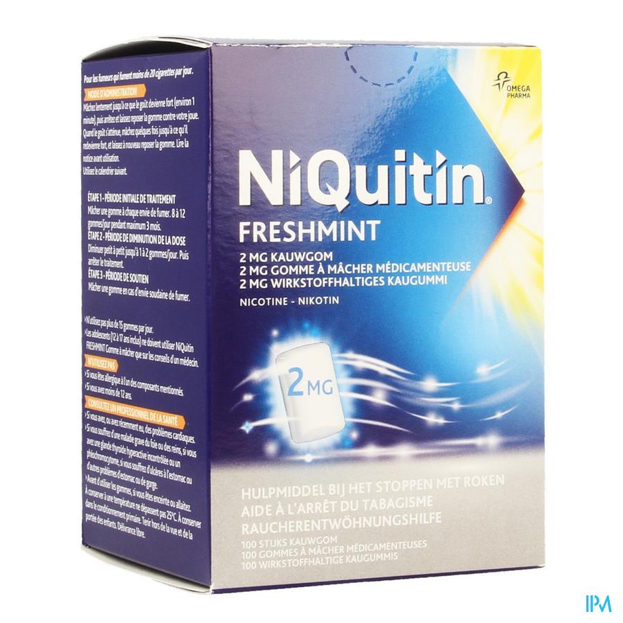 Niquitin 2,0mg Munt Kauwgom 100