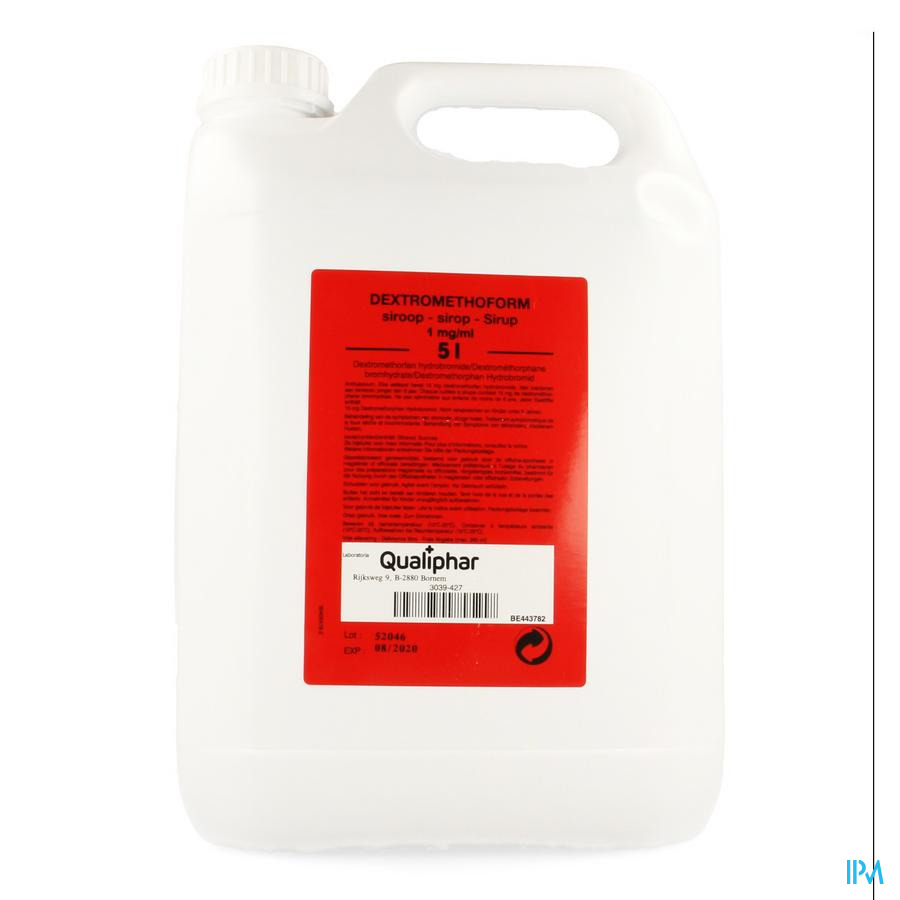 Dextromethoform 1mg/ml Siroop 5l Qualiphar