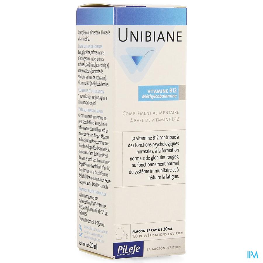 Unibiane Vitamine B12 Fl Pompe 20ml