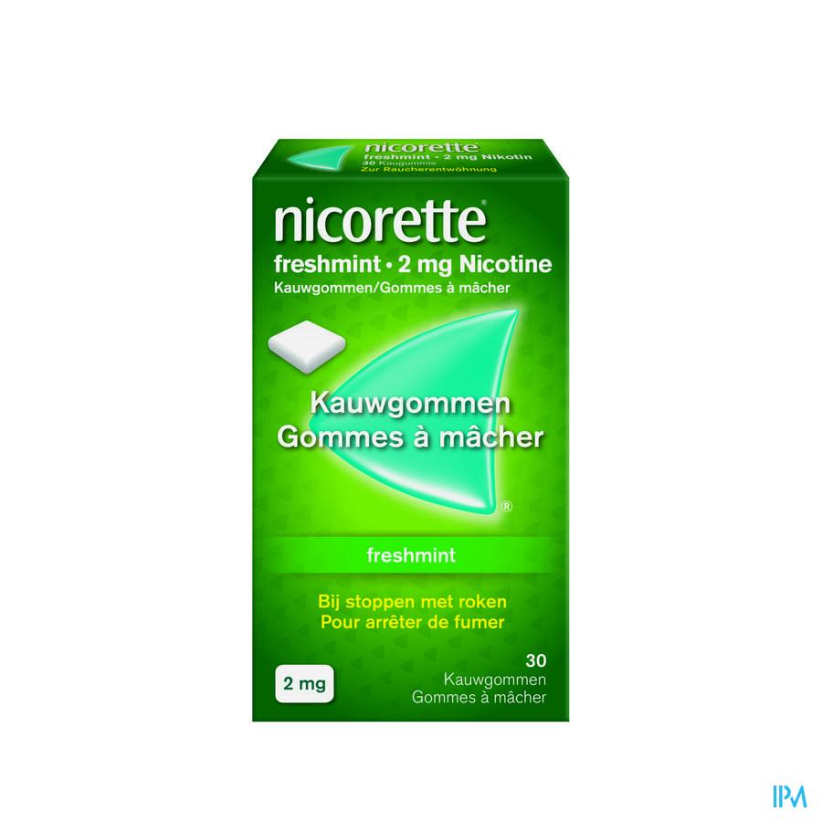 Nicorette Freshmint Kauwgom 30x2mg