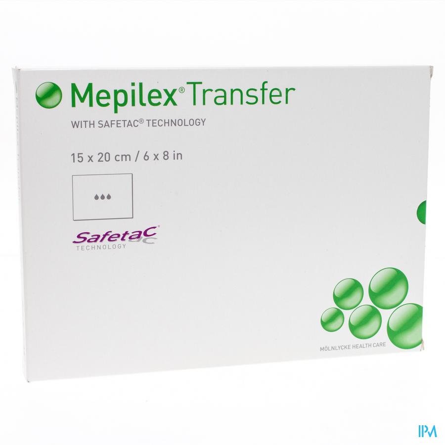 Mepilex Transfer Verb Sil Ster 15x20cm 5 294800