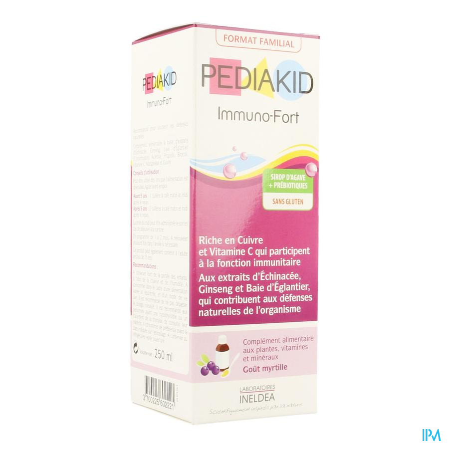 Pediakid Immuno Fortifiant Sol Buv Fl 250ml